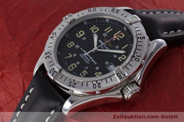 Used luxury watch Breitling Superocean steel automatic Kal. B17 ETA 2824-2 Ref. A17040  | 160707 01