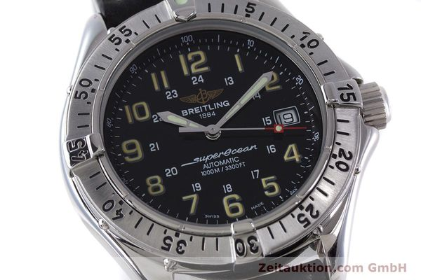 Used luxury watch Breitling Superocean steel automatic Kal. B17 ETA 2824-2 Ref. A17040  | 160707 02