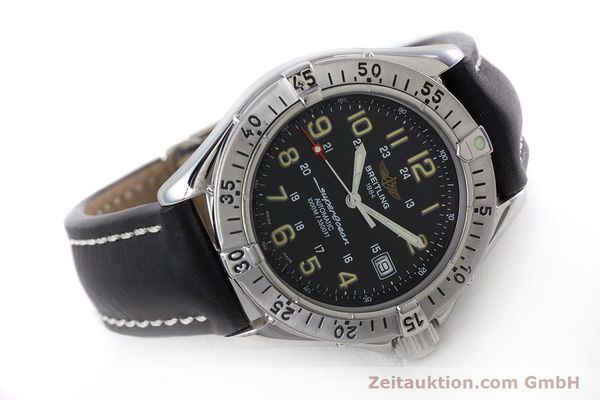 Used luxury watch Breitling Superocean steel automatic Kal. B17 ETA 2824-2 Ref. A17040  | 160707 03