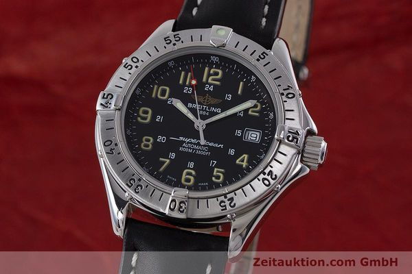 Used luxury watch Breitling Superocean steel automatic Kal. B17 ETA 2824-2 Ref. A17040  | 160707 04