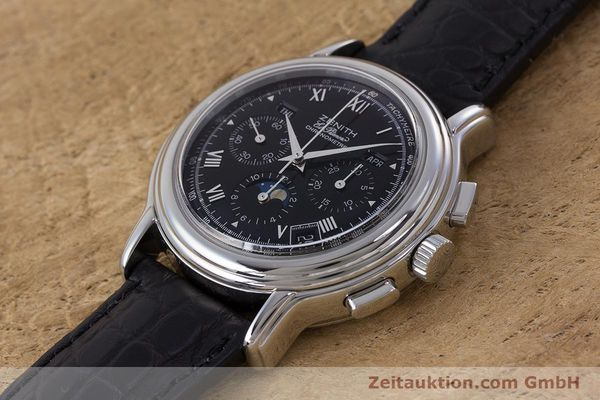 Used luxury watch Zenith El Primero chronograph steel automatic Kal. 410Z Ref. 01.0240.410  | 160710 01