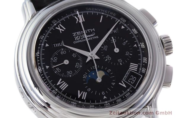 Used luxury watch Zenith El Primero chronograph steel automatic Kal. 410Z Ref. 01.0240.410  | 160710 02