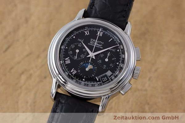 Used luxury watch Zenith El Primero chronograph steel automatic Kal. 410Z Ref. 01.0240.410  | 160710 04