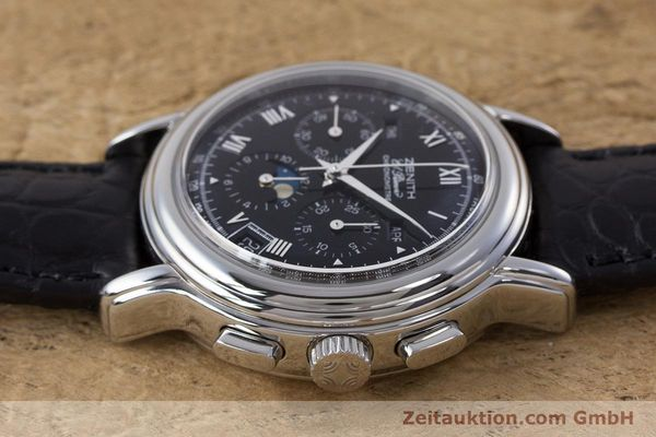 Used luxury watch Zenith El Primero chronograph steel automatic Kal. 410Z Ref. 01.0240.410  | 160710 05
