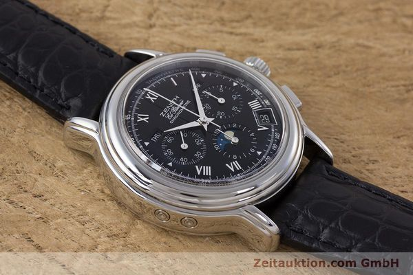 Used luxury watch Zenith El Primero chronograph steel automatic Kal. 410Z Ref. 01.0240.410  | 160710 13