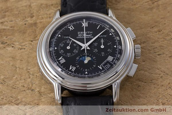 Used luxury watch Zenith El Primero chronograph steel automatic Kal. 410Z Ref. 01.0240.410  | 160710 14