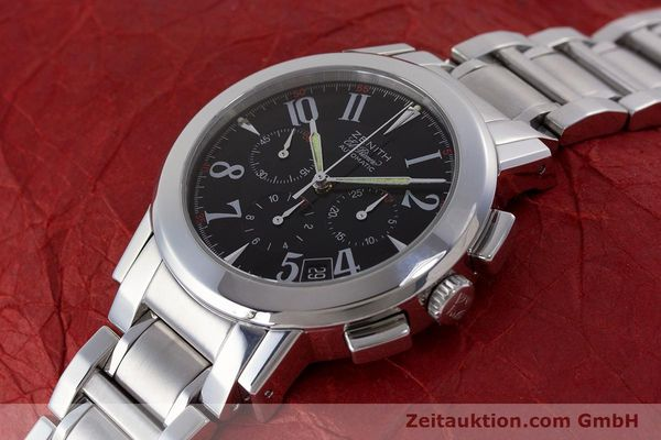 Used luxury watch Zenith El Primero chronograph steel automatic Kal. 400 Ref. 01/02.0450.400  | 160712 01