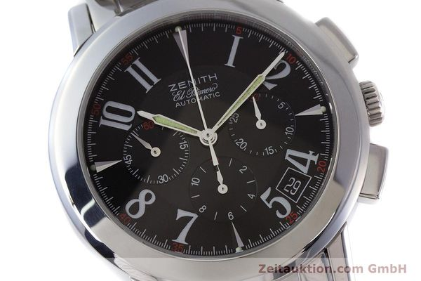Used luxury watch Zenith El Primero chronograph steel automatic Kal. 400 Ref. 01/02.0450.400  | 160712 02