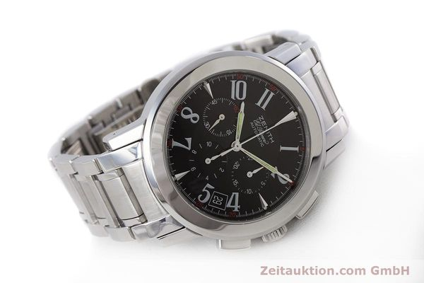 Used luxury watch Zenith El Primero chronograph steel automatic Kal. 400 Ref. 01/02.0450.400  | 160712 03