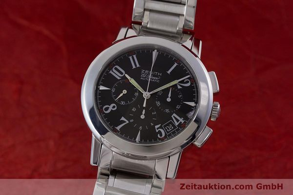 Used luxury watch Zenith El Primero chronograph steel automatic Kal. 400 Ref. 01/02.0450.400  | 160712 04