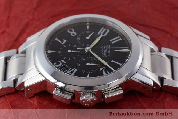 Used luxury watch Zenith El Primero chronograph steel automatic Kal. 400 Ref. 01/02.0450.400  | 160712 05