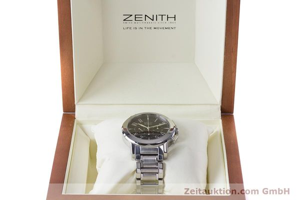 Used luxury watch Zenith El Primero chronograph steel automatic Kal. 400 Ref. 01/02.0450.400  | 160712 07