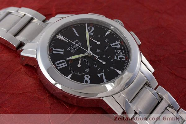Used luxury watch Zenith El Primero chronograph steel automatic Kal. 400 Ref. 01/02.0450.400  | 160712 14