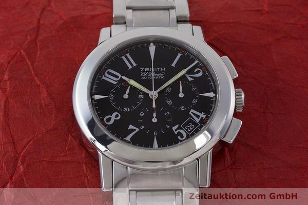 Used luxury watch Zenith El Primero chronograph steel automatic Kal. 400 Ref. 01/02.0450.400  | 160712 15