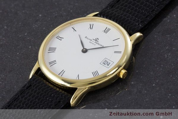 Used luxury watch Baume & Mercier * 18 ct gold quartz Kal. BM11295 ETA 255.111 Ref. MV045077  | 160715 01
