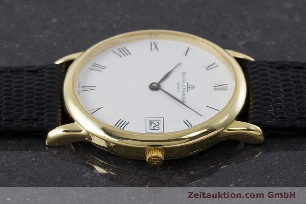 Used luxury watch Baume & Mercier * 18 ct gold quartz Kal. BM11295 ETA 255.111 Ref. MV045077  | 160715 05