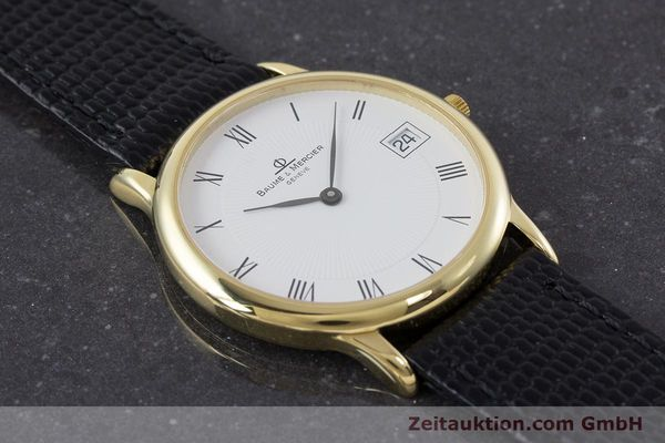 Used luxury watch Baume & Mercier * 18 ct gold quartz Kal. BM11295 ETA 255.111 Ref. MV045077  | 160715 15