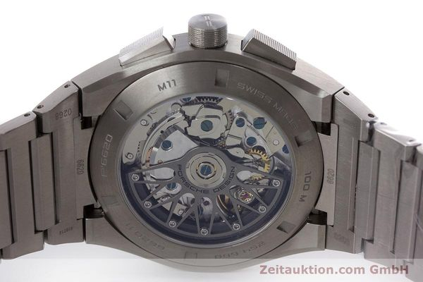 Used luxury watch Porsche Design Dashbord chronograph titanium automatic Kal. ETA 7753 Ref. P6620  | 160717 09