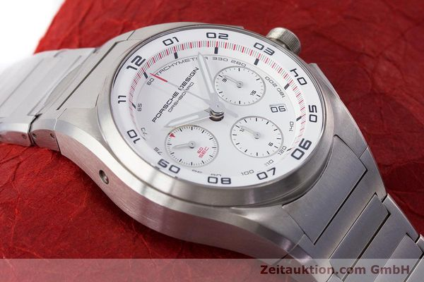 Used luxury watch Porsche Design Dashbord chronograph titanium automatic Kal. ETA 7753 Ref. P6620  | 160717 15