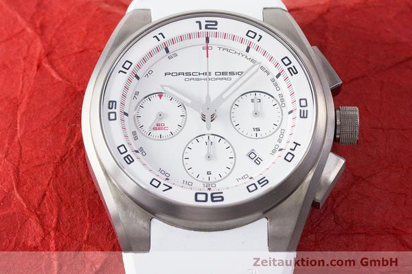 Used luxury watch Porsche Design Dashbord chronograph titanium automatic Kal. ETA 7753 Ref. P6620  | 160718 16