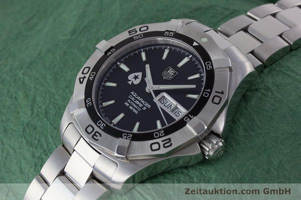Used luxury watch Tag Heuer Aquaracer steel automatic Kal. 5 ETA 2836-2 Ref. WAF2013  | 160721 01