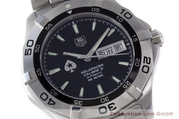 Used luxury watch Tag Heuer Aquaracer steel automatic Kal. 5 ETA 2836-2 Ref. WAF2013  | 160721 02
