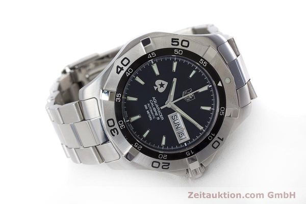 Used luxury watch Tag Heuer Aquaracer steel automatic Kal. 5 ETA 2836-2 Ref. WAF2013  | 160721 03
