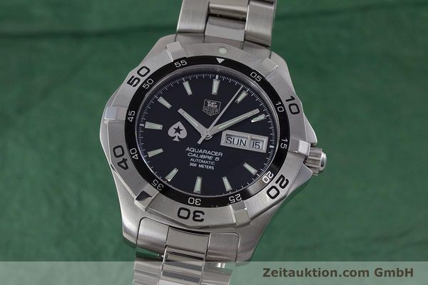 Used luxury watch Tag Heuer Aquaracer steel automatic Kal. 5 ETA 2836-2 Ref. WAF2013  | 160721 04