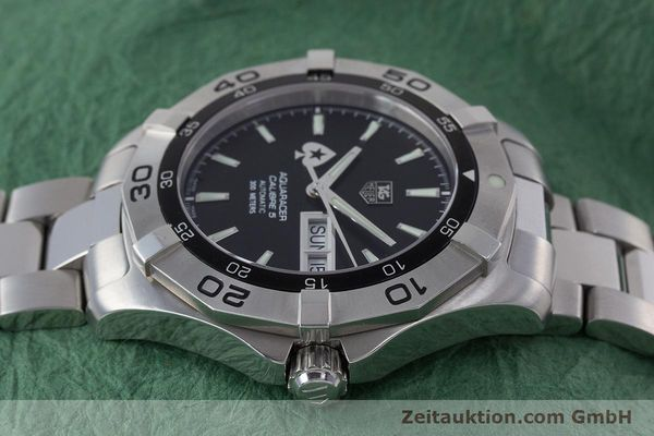 Used luxury watch Tag Heuer Aquaracer steel automatic Kal. 5 ETA 2836-2 Ref. WAF2013  | 160721 05