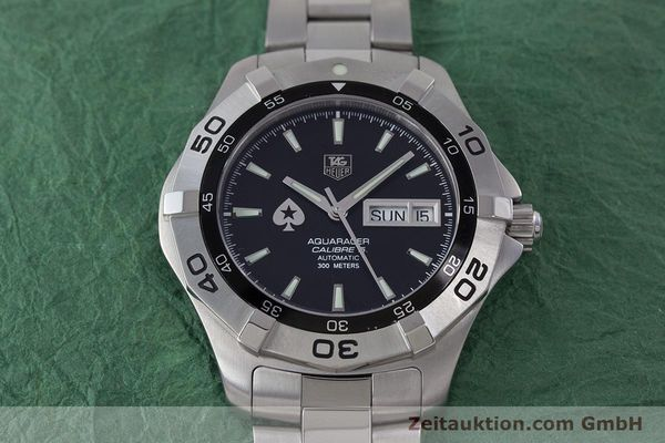 Used luxury watch Tag Heuer Aquaracer steel automatic Kal. 5 ETA 2836-2 Ref. WAF2013  | 160721 17