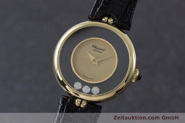 CHOPARD LADY 18K GOLD HAPPY DIAMONDS DAMENUHR DIAMANTEN REF 4036 VP: 10940,- Euro [160728]