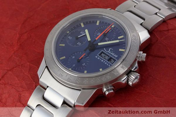 Used luxury watch Sinn Kristall chronograph steel automatic Kal. ETA 7750 LIMITED EDITION | 160740 01