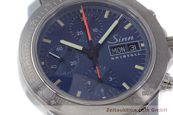 Used luxury watch Sinn Kristall chronograph steel automatic Kal. ETA 7750 LIMITED EDITION | 160740 02