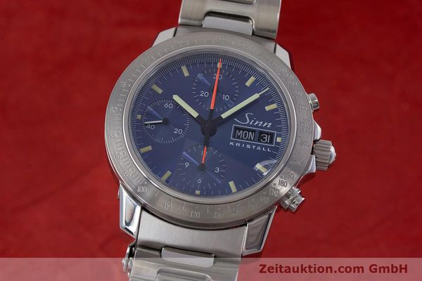 Used luxury watch Sinn Kristall chronograph steel automatic Kal. ETA 7750 LIMITED EDITION | 160740 04