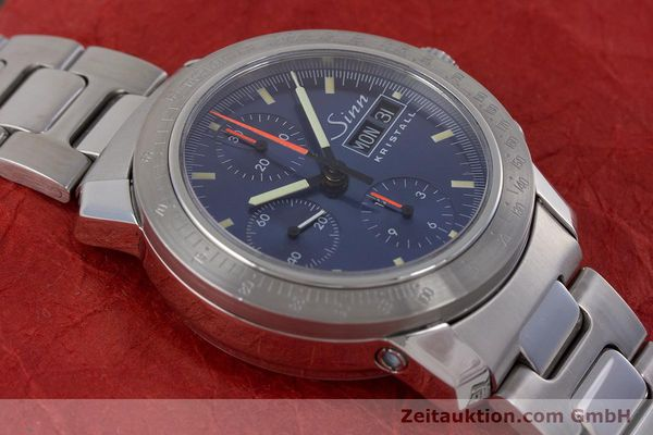 Used luxury watch Sinn Kristall chronograph steel automatic Kal. ETA 7750 LIMITED EDITION | 160740 15