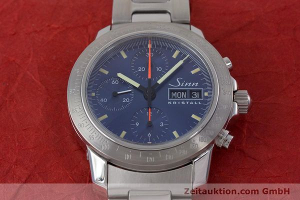 Used luxury watch Sinn Kristall chronograph steel automatic Kal. ETA 7750 LIMITED EDITION | 160740 16