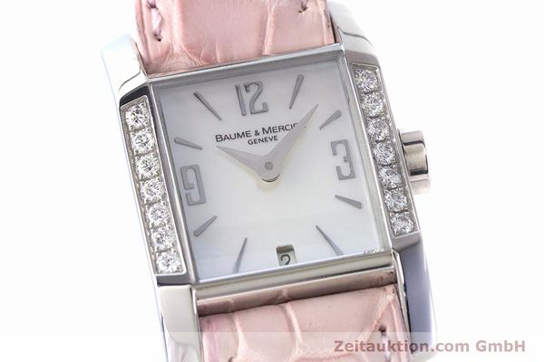 Used luxury watch Baume & Mercier Hampton steel quartz Kal. BM7111 ETA F03.111 Ref. 65516  | 160744 02