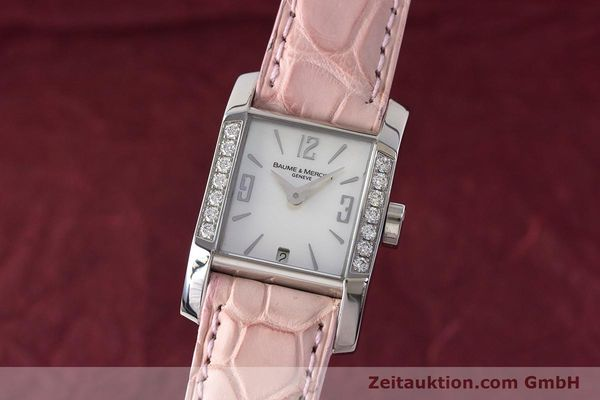 BAUME & MERCIER LADY HAMPTON DIAMANTEN EDELSTAHL DAMENUHR 65516 VP: 3700,- EURO [160744]