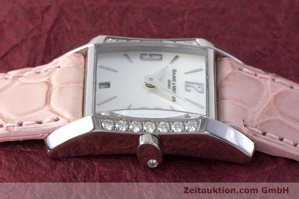 Used luxury watch Baume & Mercier Hampton steel quartz Kal. BM7111 ETA F03.111 Ref. 65516  | 160744 05
