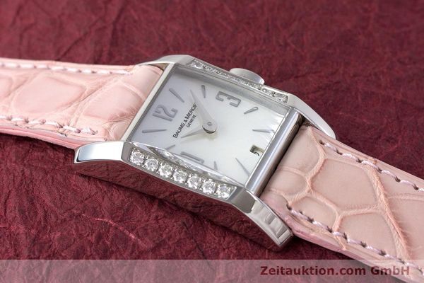 Used luxury watch Baume & Mercier Hampton steel quartz Kal. BM7111 ETA F03.111 Ref. 65516  | 160744 11