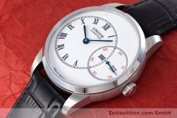 Used luxury watch Union Glashütte 1893 steel automatic Kal. 2899-993 Ref. D007.444A  | 160749 01