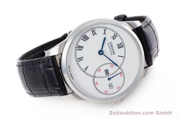 Used luxury watch Union Glashütte 1893 steel automatic Kal. 2899-993 Ref. D007.444A  | 160749 03