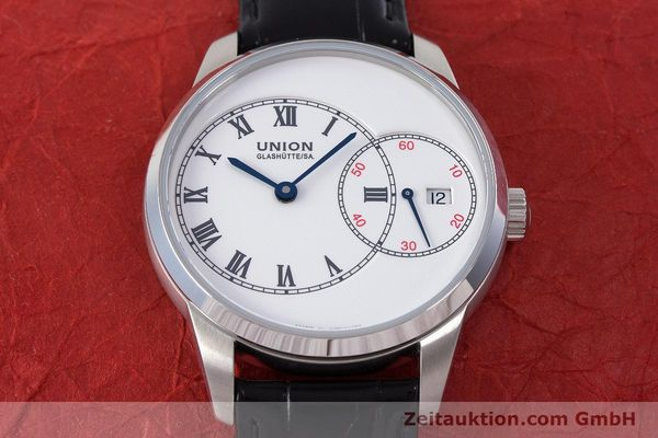Used luxury watch Union Glashütte 1893 steel automatic Kal. 2899-993 Ref. D007.444A  | 160749 15