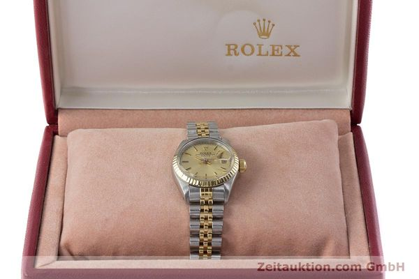 Used luxury watch Rolex Lady Date steel / gold automatic Kal. 2030 Ref. 6917  | 160751 07