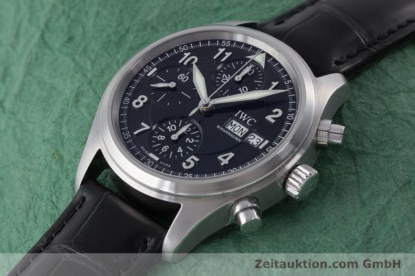 Used luxury watch IWC Fliegerchronograph chronograph steel automatic Kal. 79320 Ref. 3706  | 160753 01