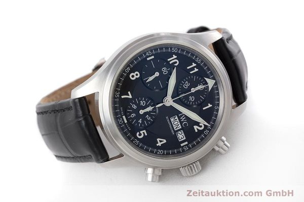 Used luxury watch IWC Fliegerchronograph chronograph steel automatic Kal. 79320 Ref. 3706  | 160753 03