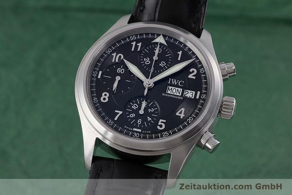 Used luxury watch IWC Fliegerchronograph chronograph steel automatic Kal. 79320 Ref. 3706  | 160753 04