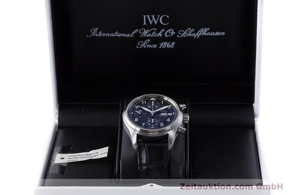 Used luxury watch IWC Fliegerchronograph chronograph steel automatic Kal. 79320 Ref. 3706  | 160753 07