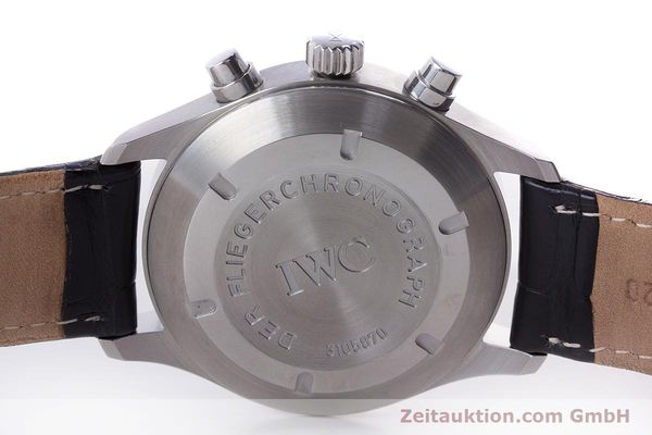Used luxury watch IWC Fliegerchronograph chronograph steel automatic Kal. 79320 Ref. 3706  | 160753 09