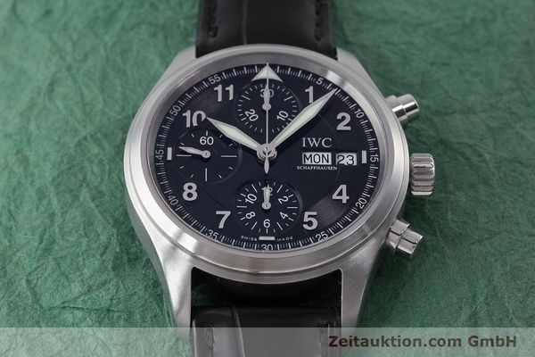 Used luxury watch IWC Fliegerchronograph chronograph steel automatic Kal. 79320 Ref. 3706  | 160753 18